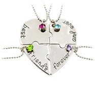 SET 4 CIONDOLI CUORE SPEZZATO COLLANE BEST FRIENDS FOREVER AND EVER ET12