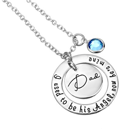 COLLANA I USED TO BE HIS ANGEL NOW HE'S MINE DAD MEMORIA PAPA' DONNA ET17