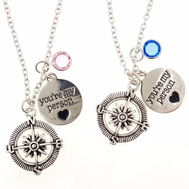 SET 2 COLLANE GREY'S ANATOMY YOU'RE MY PERSON CUORE BUSSOLA ET26
