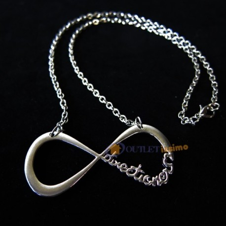 COLLANA CIONDOLO 1D ONE DIRECTION PENDENTE DIRECTIONER INFINITY INFINITO