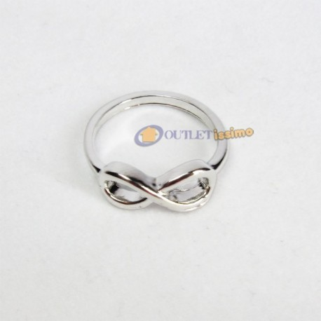 ANELLO 1D ONE DIRECTION DIRECTIONER INFINITY INFINITO COLORE ARGENTO OFFERTA