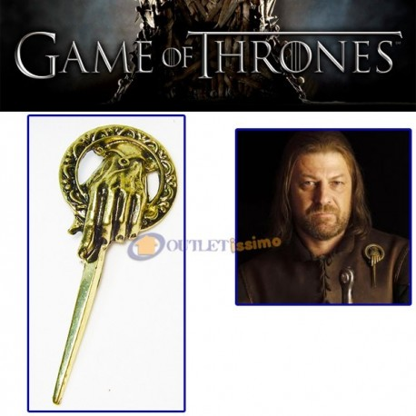 SPILLA VERSIONE DELUXE PIN TRONO DI SPADE GAME OF THRONES PRIMO CAVALIERE NUOVO