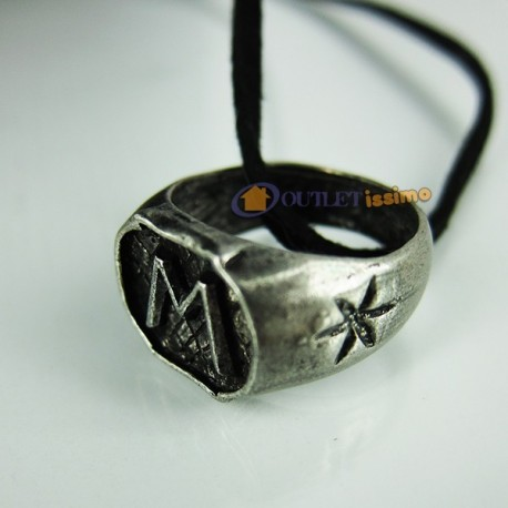 COLLANA CIONDOLO ANELLO MORGENSTERN CITY BONES SHADOWHUNTERS MORTAL INSTRUMENTS