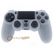 CUSTODIA COVER SILICONE CONTROLLER JOYSTICK PAD SONY PLAYSTATION 4 PS4 BIANCO