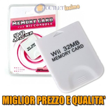 MEMORY CARD DA 32MB 507 BLOCCHI PER GAMECUBE E WII AFFARE OFFERTA CONVENIENZA