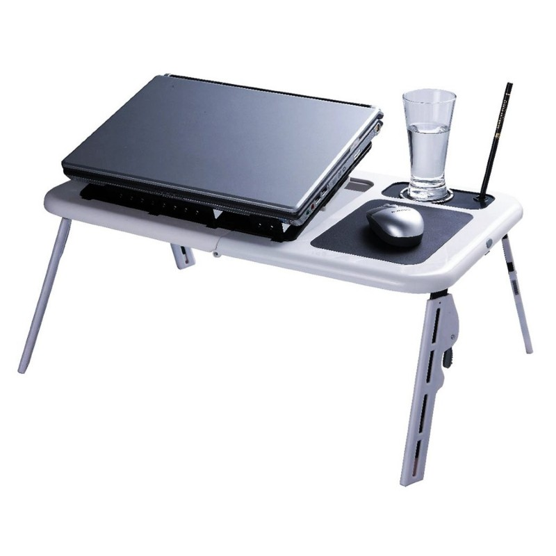TAVOLINO PC PIEGHEVOLE E-TABLE DISSIPATORE NOTEBOOK COMPUTER