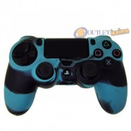 CUSTODIA COVER SILICONE CONTROLLER JOYSTICK SONY PLAYSTATION 4 PS4 MIMETICA BLU