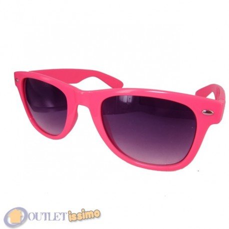 OCCHIALI DA SOLE FUCSIA UNISEX LENTI SCURE SFUMATE FASHION UV400
