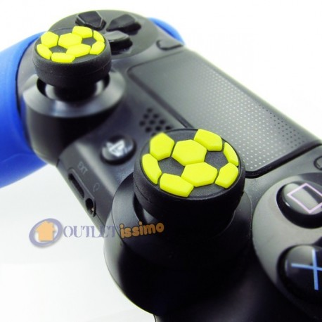 SET GRIP 2 GOMMINI PALLONE GIALLO GIOCHI CALCIO CONTROLLER FIFA PES PS4,XBOX ONE
