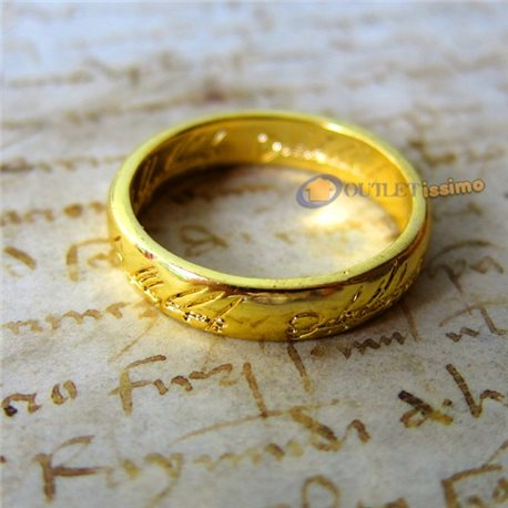 UNICO ANELLO SIGNORE DEGLI ANELLI HOBBIT LORD OF THE RINGS INCISIONI OFFERTA